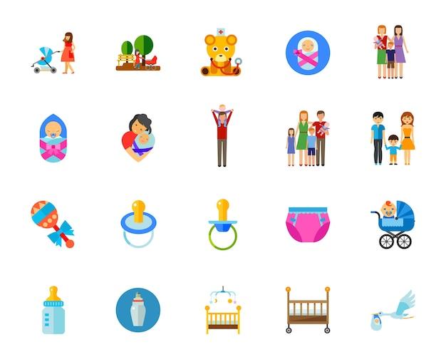 Conjunto de ícones para crianças