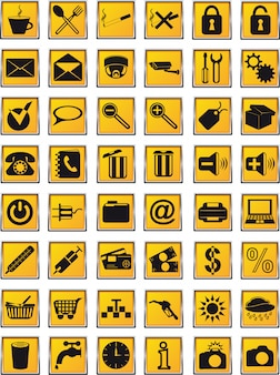 Conjunto de ícones para o projeto.