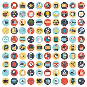 Conjunto de ícones para sites e aplicativos móveis
