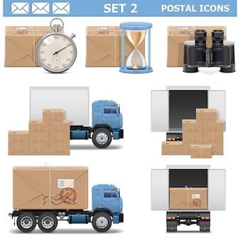 Conjunto de ícones postais 2