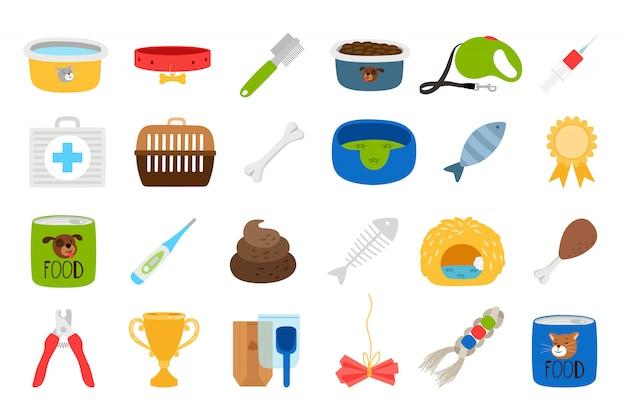 Conjunto de ícones relacionados a animais de estimação