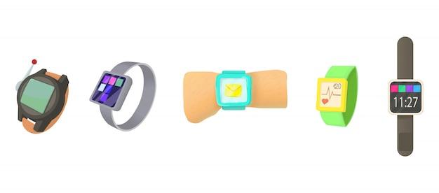 Conjunto de ícones smartwatch