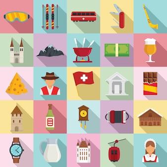 Conjunto de ícones suíços