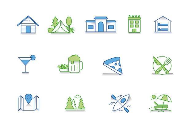 Conjunto de ícones turism