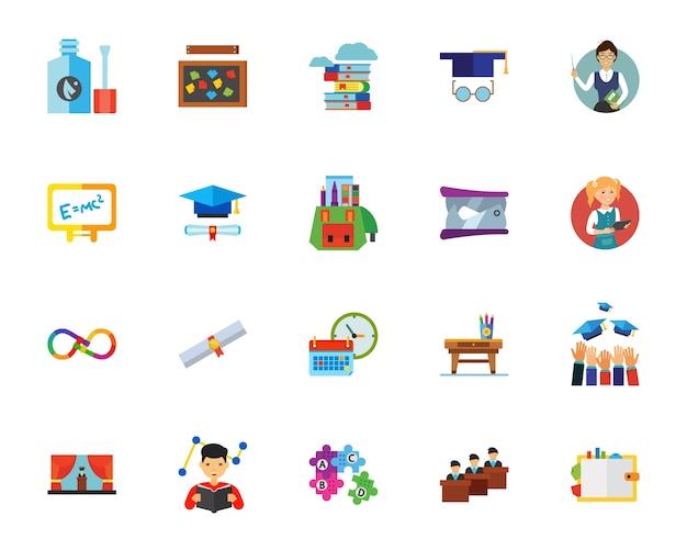 Conjunto de ícones universitários