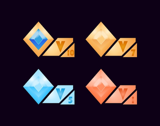 Conjunto de ícones vip para recursos de interface do usuário do jogo
