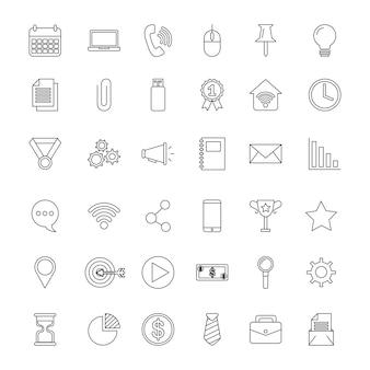 Conjunto de ícones.