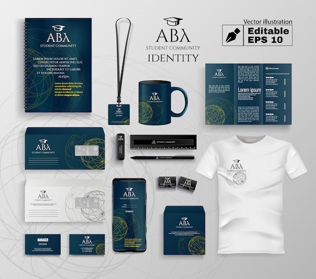 Conjunto de identidade da comunidade estudantil