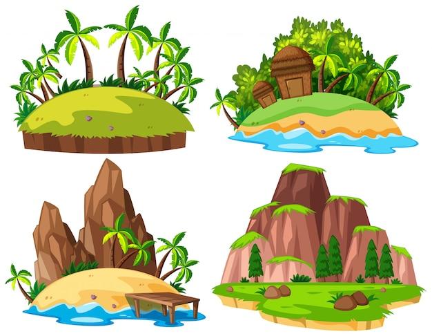 Conjunto de ilha isolada