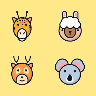Conjunto de ilustração de animais