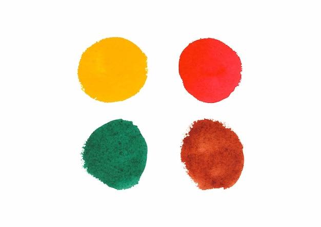 Conjunto de ilustração de círculos em aquarela