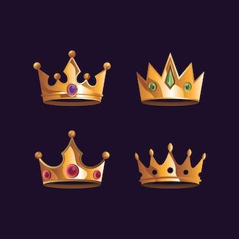 Conjunto de ilustração de coroa