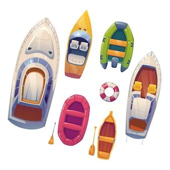 Conjunto de ilustração de design de canoa caiaque