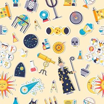 Conjunto de ilustração de design de ícones de casas de astrologia