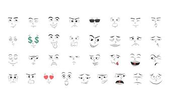 Conjunto de ilustração de emoção