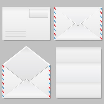 Conjunto de ilustração de envelopes
