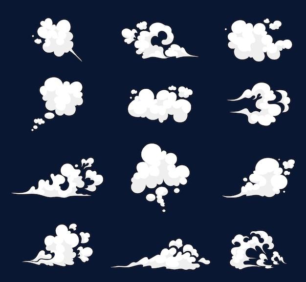 Conjunto de ilustração de fumaça para modelo de efeitos especiais