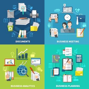 Conjunto de ilustração de negócios