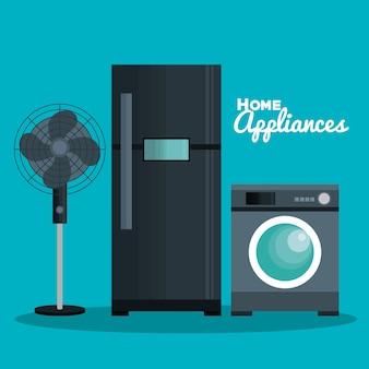 Conjunto de ilustração de vector de ícones de eletrodomésticos