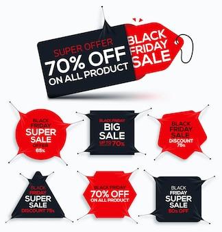Conjunto de ilustração de venda black friday