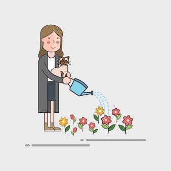 Conjunto de ilustração de vetor ambiental