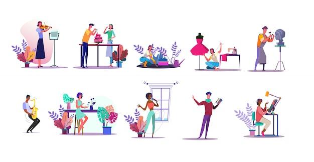 Conjunto de ilustração de vocação