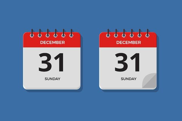 Conjunto de ilustração do ícone do calendário diurno