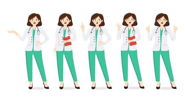 Conjunto de ilustração médica