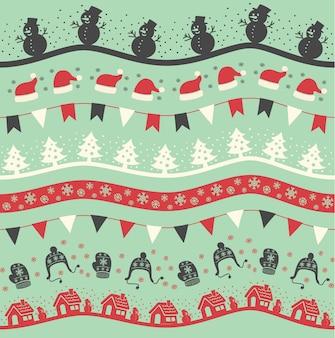 Conjunto de ilustração vetorial de decoração de natal