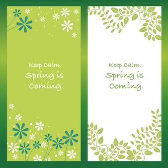 Conjunto de ilustrações abstratas de primavera