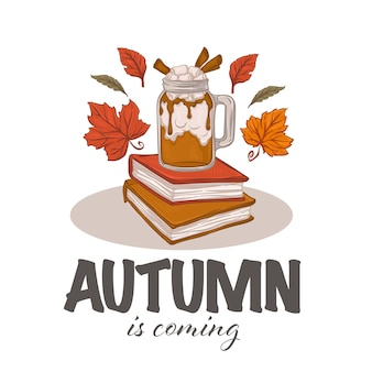 Conjunto de ilustrações de clima de outono