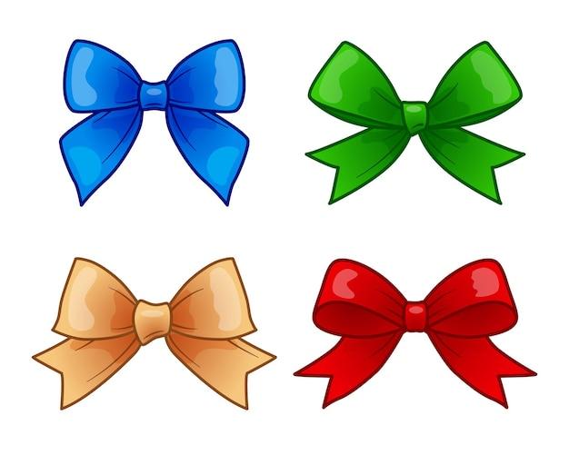 Conjunto de ilustrações de desenhos animados de arcos decorativos multicoloridos