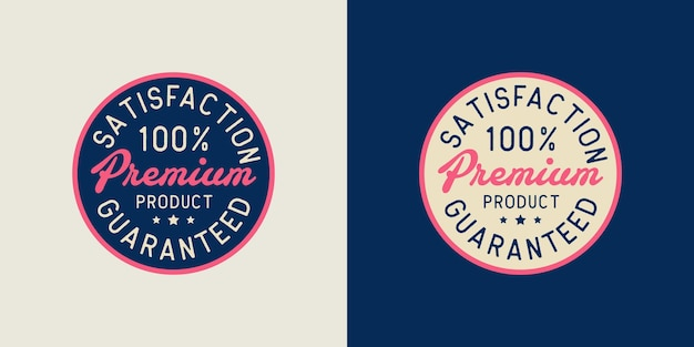 Conjunto de ilustrações de design de carimbo de logotipo premium