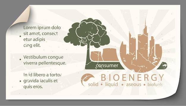 Conjunto de ilustrações de infográfico de fontes de energia renováveis da água da terra e do vento.