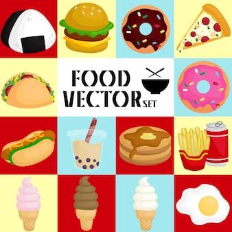 Conjunto de imagem de comida