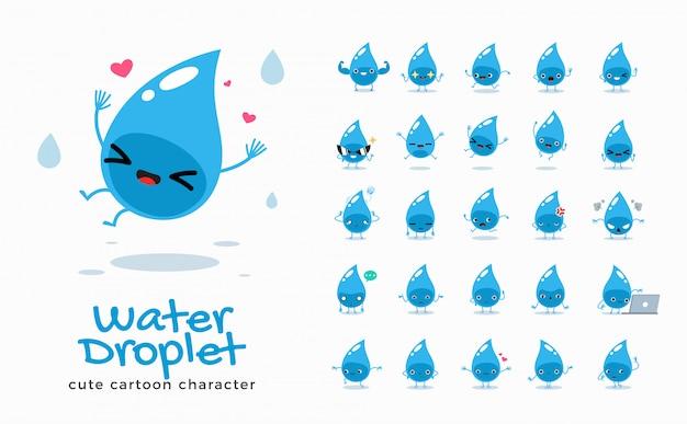 Conjunto de imagens de desenhos animados de água. ilustração.