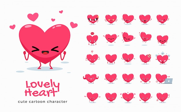 Conjunto de imagens de desenhos animados do amor. ilustração.