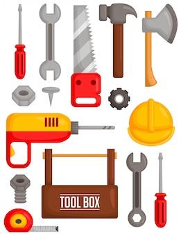 Conjunto de imagens de ferramentas