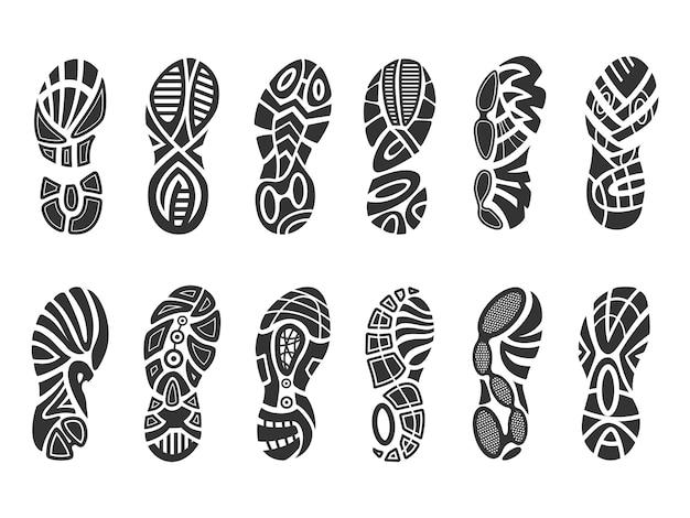 Conjunto de impressão de sapatos