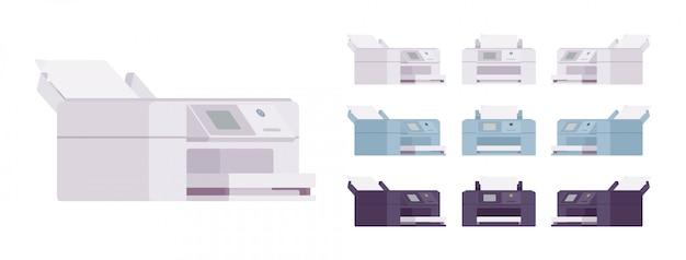 Conjunto de impressora a laser para escritório