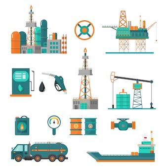 Conjunto de indústria petrolífera