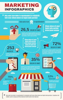 Conjunto de infográficos de marketing