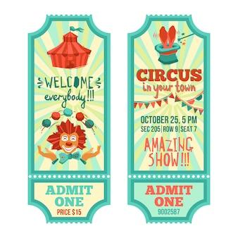 Conjunto de ingressos de circo