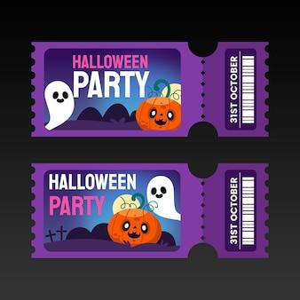 Conjunto de ingressos para gradiente de halloween