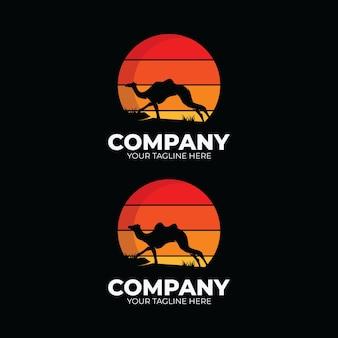 Conjunto de inspiração de design de logotipo de camelo