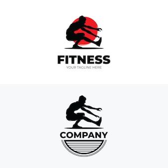 Conjunto de inspiração de design de logotipo de fitness