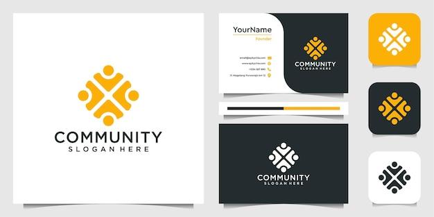 Conjunto de inspiração para o design de logotipo da comunidade