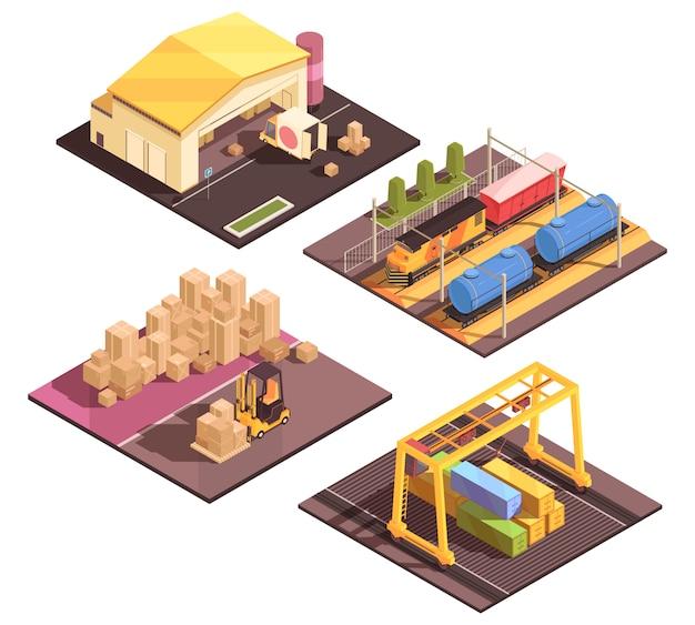 Conjunto de instalações de classificação logística
