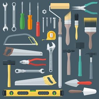 Conjunto de instrumentos de remodelação de casa