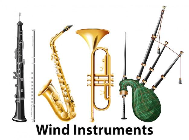 Conjunto de instrumentos de sopro